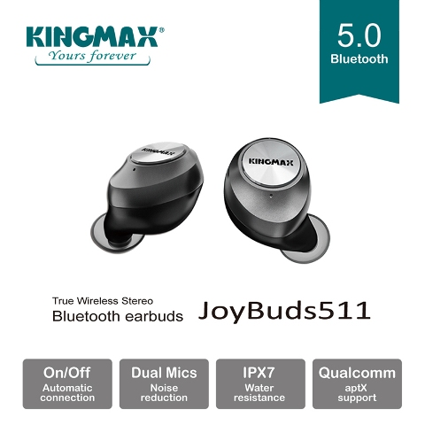 KINGMAX TWS Bluetooth earbuds JoyBuds511 with CVC noise cancellation technology